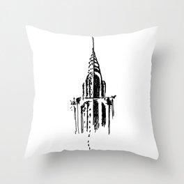 Chrysler Building Sketch Throw Pillow