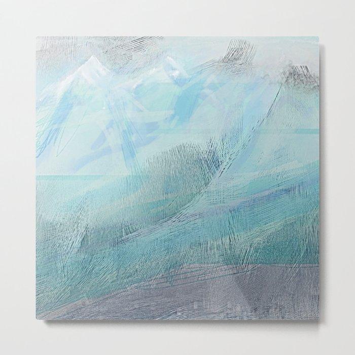 Blue Distant Peaks Metal Print by anutu | Society6