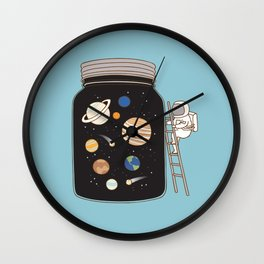 confined space Wall Clock