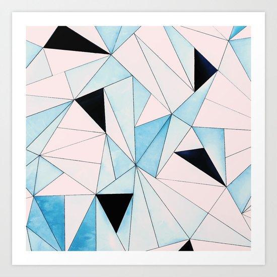Geometric Washout #society6 #decor #buyart Art Print