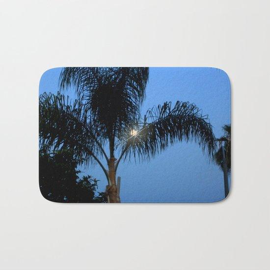 Moonlight through the Palms, Southern California Bath Mat