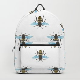 Watercolour Bee Pattern Backpack