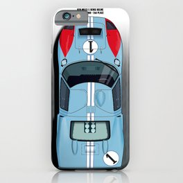 Ken Miles, Denis Hulme GT40, Le Mans 2nd 1966 iPhone Case
