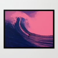 surfing Canvas Prints featuring Surfing  by The Squatcher