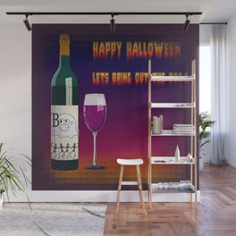 Happy Halloween Let's Bring Out the Boo's Greeting  Wall Mural