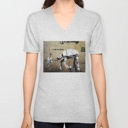 Banksy, I am your father Unisex V-Neck