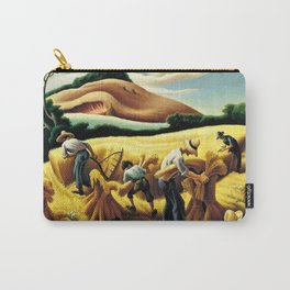 Classical Masterpiece 'Cradling Wheat' by Thomas Hart Benton Carry-All Pouch
