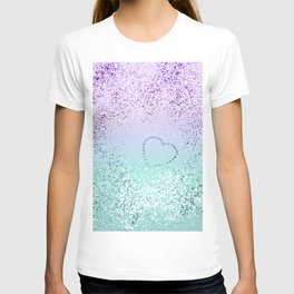 Sparkling MERMAID Girls Glitter Heart #1 #decor #art #society6 T-shirt