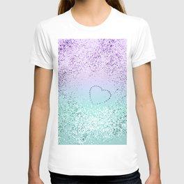 Sparkling MERMAID Girls Glitter Heart #1 #decor #art #society6 T-shirt