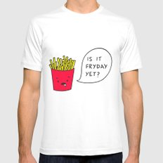 Is it Fryday yet? White Mens Fitted Tee MEDIUM