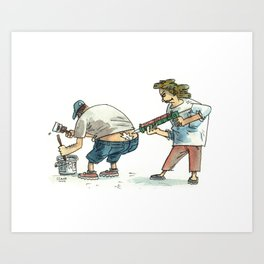 Bum-Crack Filler Art Print