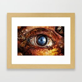 Steampunk camera's eye. Framed Art Print