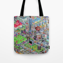 Videogame City V2.0 Tote Bag