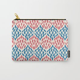 Organic pattern red and blue. Carry-All Pouch