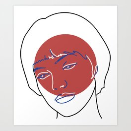 Nana (Vivre Sa Vie - Jean-Luc Godard) Art Print