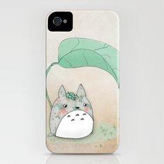 Floral Totoro iPhone (4, 4s) Slim Case
