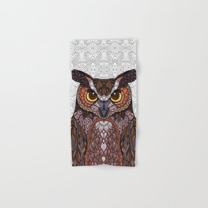 Great Horned Owl 2016 Hand & Bath Towel