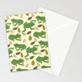 Fun Frogs with Leaves from Trees Stationery Cards