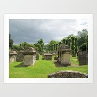 Cemetery in the Cotswolds Art Print
