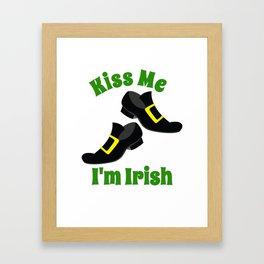 Irish Kiss Me I'm Irish Leprechaun Shoes Framed Art Print