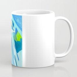 Glass Geometry Light Blue Coffee Mug