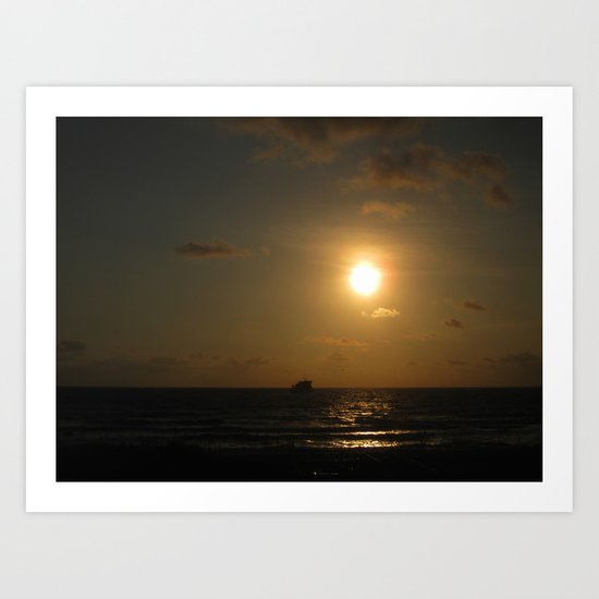 Sunrise on the Outer Banks Art Print