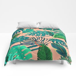 Summer Tropical Leaves Comforters