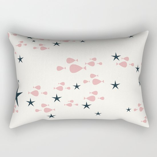 fish and stars pink Rectangular Pillow