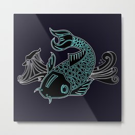 Little Lucky Koi Metal Print