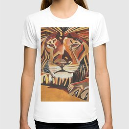 Lion Vector In Cubist Style T-shirt