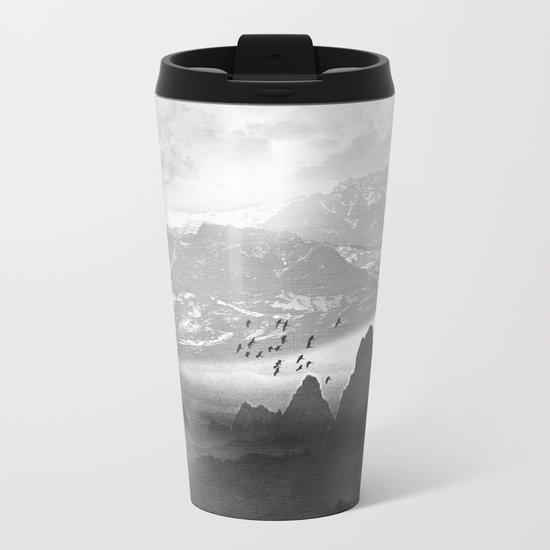 Black and White - Winter. Melody... Metal Travel Mug