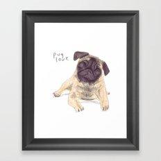 Pug Love Framed Art Print