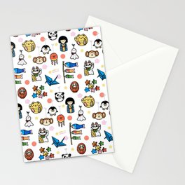 Lucky Japan Doodle Stationery Cards
