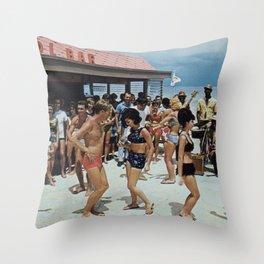 Beach Party 2 Throw Pillow