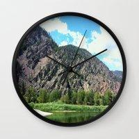 montana Wall Clocks featuring Montana Rock  by OrdinaryAdventures