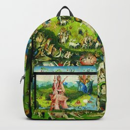 The Garden of Earthly Delights Triptych by Hieronymus Bosch Backpack