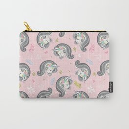 Cute unicorn face design pattern. Carry-All Pouch