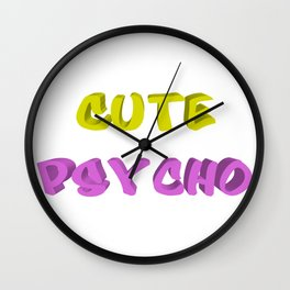 Cute psycho Wall Clock