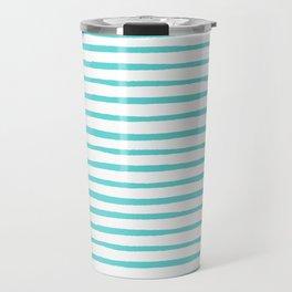 Nautical Stripes Travel Mug