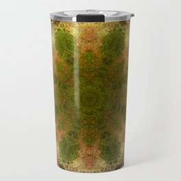Green Flower Fossil Travel Mug