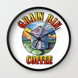 Grain Bin Coffee Logo Wall Clock