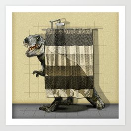 I want to take a bath Art Print