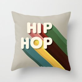 HIP HOP - typography Throw Pillow