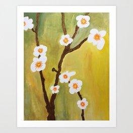 Dainty Flowers #OilPainting Art Print