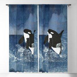 Killer Whale Orca Blackout Curtain