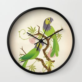 Black-capped conure Wall Clock