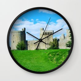 Castle on a hill Wall Clock
