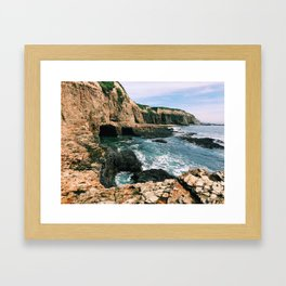 Highway 1 Beach Cliffs Framed Art Print