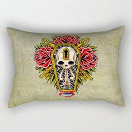 trad coffin w/roses Rectangular Pillow