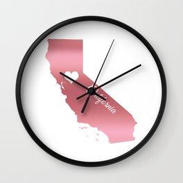 Rose Gold California Heart Wall Clock